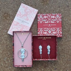 Lucky Brand matching necklace & earrings